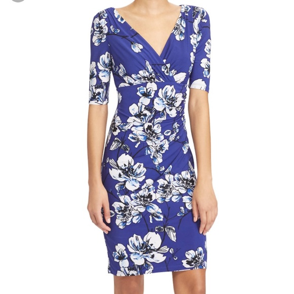 NWT Ralph Lauren Floral Print Jersey Dress